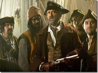 **THIS IMAGE IS UNDER STRICT EMBARGO UNTIL 00:01HRS 12TH APRIL 2011** DOCTOR WHO Picture shows: (l-r) DeFlorres (TONY LUCKEN), Dancer (CHRIS JARMAN), Avery (HUGH BONNEVILLE), Mulligan (MICHAEL BEGLEY), Boatswain (LEE ROSS)