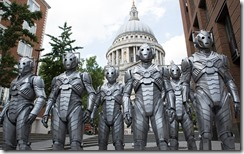 WARNING: Embargoed for publication until: 28/10/2014 - Programme Name: Doctor Who - TX: 01/11/2014 - Episode: n/a (No. 11) - Picture Shows: *STRICTLY NOT FOR PUBLICATION UNTIL 03:00 HRS, TUESDAY OCTOBER 28TH, 2014* Cybermen - (C) BBC - Photographer: Jack Barnes
